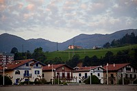 Houses in the beach of Deba, Guipuzcoa, Basque Country, Spain