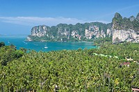 View point to Hat Rai Leh West, Krabi province, Thailand