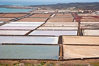 Salinas de Janubio in Lanzarote, Canary Islands, Spain