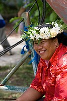 Welcoming ceremony, Aitu Island, Cook Islands, Polynesia