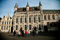 City Hall in Bourg, Bruges, Flanders, Belgium