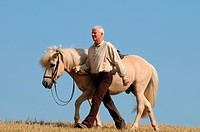 Man with Icelandic Horse