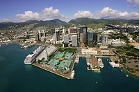 Honolulu Harbor, Oahu, Hawaii, USA