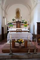 Church, Aullene, Corsica, France