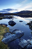 Loch Tollaidh at dawn, near Poolewe, Achnasheen, Wester Ross, Highlands, Scotland, United Kingdom, Europe