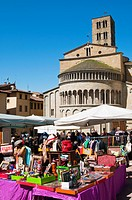 Antiquarian fair at Piazza Vasari, Arezzo, Tuscany, Italy, Europe