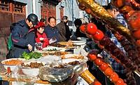 Food stall at Dashizuo Hutong,Beijing, China