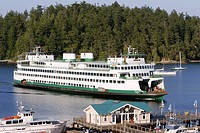 Ferry, Friday Harbor, Washington State, USA