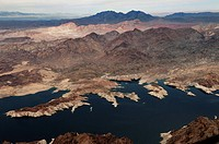 Aerial view of morning light over Lake Havasu, AZ.