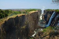 The long cliffs of Victoria Falls.