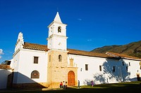 Iglesia del Carmen, colonial town of Villa de Leyva, Colombia, South America
