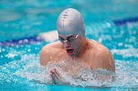 Swimmer in Pool, Breaststroke