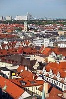 View of Munich, Upper Bavaria, Germany, Europe