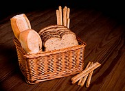 Basket with assorted bread