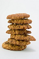 Stack of Fresh Oatmeal Raisin Cookies