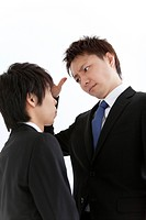 Young business men arguing