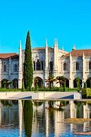 Jeronimos Monastery in Belem quarter, Lisbon, Portugal.