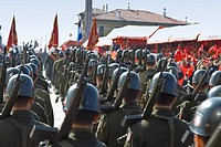Turkey, Izmir, View of military parade