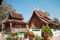 Temple at Wat Xieng Thong, Luang Prabang, Laos, Asia / Tempel im Wat Xieng Thong, Luang Prabang, Laos, Asien