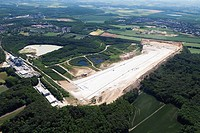 Europe, Germany, North Rhine_Westphalia, Frechen, Aerial view of quartz mining