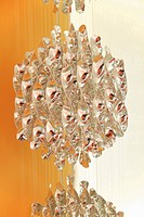 Germany, Upper Bavaria, Munich, Close up of chandelier in new house