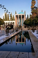 The tomb of the Sheikh Sa'di, one of the major persian poet, Shiraz, Iran
