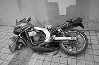 Old broken forgotten motorbike