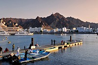 View of Muscat at sunset  Oman