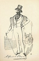 Alfred Guillaume Gabriel, Comte d´Orsay aka Count of Orsay, 1801– 1852, as a young man  French amateur artist, dandy, and man of fashion  From The Mac...