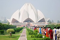 India, Delhi, Bahai Temple Lotus Temple