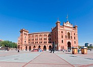 Famous bullfighting arena _ Plaza de Toros in Madrid