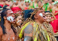 Dancers from Rapa Iti, Austral Islands, French Polynesia