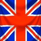 draped square english flag
