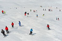 Switzerland, Graubunden, Engadina, Celerina, the ski slopes                                                                                           ...
