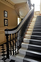 Staircase inside the Wentworth-Gardner House, built circa 1760  Portsmouth, New Hampshire, United States