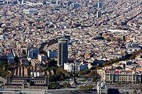 Overview of Barcelona, Spain
