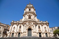mother church of St george, church in the baroque town of Modica, Sicily, Italy