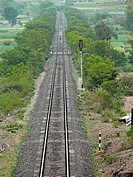 Railroad tracks, Ramdarya, Pune, Maharashtra, India