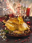 Stuffed capon for Christmas