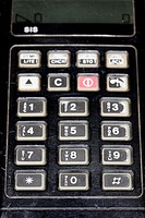 outdated Technophone PC117 cell phone keypad