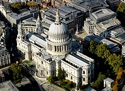 Ariel shot of St Paul´s Cathedral