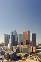 USA, California, Los Angeles, Skyline of Downtown Los Angeles