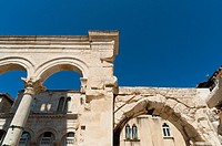 The Peristyle, Split, region of Dalmatia, Croatia, Europe