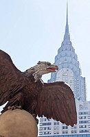 Th American Bald Eagle has a 13_foot wingspan and once graced the former Grand Central Depot.