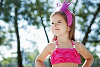 Portrait of girl 3-4 wearing costume (thumbnail)