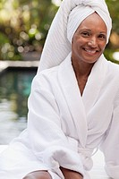 Portrait of woman in health spa