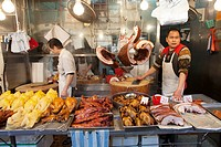meat market in Hongkong, China