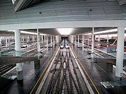 Spanish high speed train AVE. Atocha Station. Madrid. Spain.
