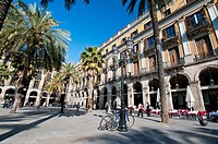 Placa Reial Plaza Real, Barcelona, Catalonia, Spain