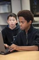 Teen boys in classroom